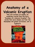 ReadyGen Anatomy of a Volcanic Eruption Vocabulary 4th Grade Unit 3 Module B