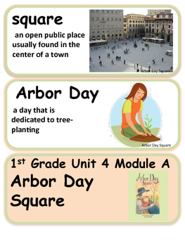 ReadyGen Arbor Day Square 1st Grade Unit 4 Module A