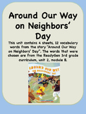 ReadyGen Around Our Way on Neighbors Day Vocabulary 3rd grade Unit 2 Module B