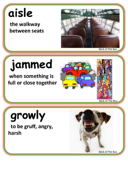 ReadyGen Back of the Bus Vocabulary 3rd Grade Unit 4 Module A