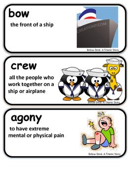 ReadyGen Below Deck: A Titanic Story Vocabulary 3rd Grade Unit A
