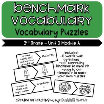 ReadyGen Benchmark Vocabulary Puzzles – Grade 3 Unit 3 Module A