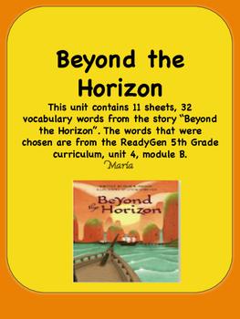 ReadyGen Beyond the Horizon Vocabulary 5th Grade Unit 4 Module B
