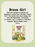ReadyGen Brave Girl Vocabulary 3rd Grade Unit 4 Module A