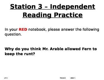 ReadyGen Center Activities Unit 1A 2nd Grade