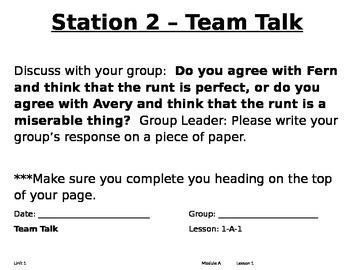 ReadyGen Center Activities Unit 2A 2nd Grade