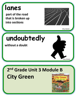 ReadyGen City Green / City Trees  Vocabulary 2nd Grade Unit 3 Module B