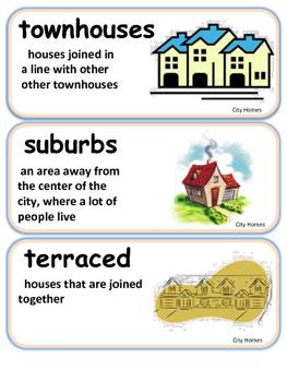 ReadyGen City Homes Vocabulary 3rd grade Unit 2 Module B