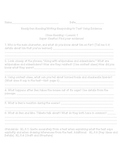 ReadyGen Close Reading Questions for Grade 5- Lesson 10