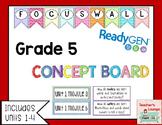 ReadyGen Concept Board - Focus Wall - EDITABLE - Grade 5