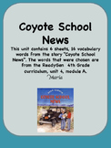 ReadyGen Coyote School News Vocabulary 4th Grade Unit 4 Module A