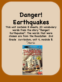 ReadyGen Danger! Earthquakes Vocabulary 2nd Grade Unit 4 Module B