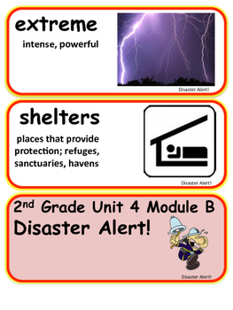 ReadyGen Disaster Alert! Vocabulary 2nd Grade Unit 4 Module B