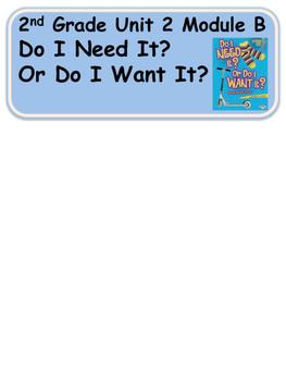 ReadyGen Do I Need It? Or Do I Want It? Vocabulary 2nd grade Unit 2 Module B