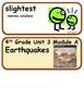 ReadyGen Earthquakes Vocabulary 4th Grade Unit 3 Module A