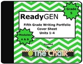 ReadyGen Fifth Grade Writing Portfolio Cover Sheet