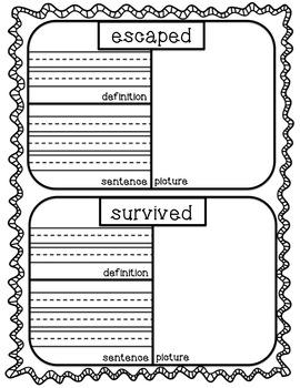 ReadyGen First Grade Vocabulary Journal Unit 1A