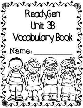 ReadyGen First Grade Vocabulary Journal Unit 3B