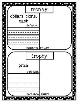 ReadyGen First Grade Vocabulary Journal Unit 3A