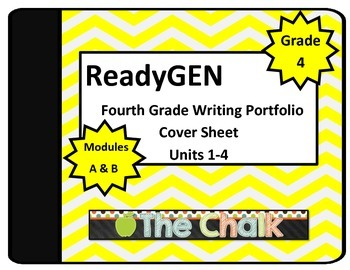 ReadyGen Fourth Grade Writing Portfolio Cover Sheet