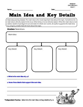 ReadyGen GRAPHIC ORGANIZERS Unit 2 Module B - Grade 5