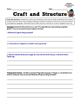 ReadyGen 2014-15 GRAPHIC ORGANIZERS Unit 4 Module A - Grade 4
