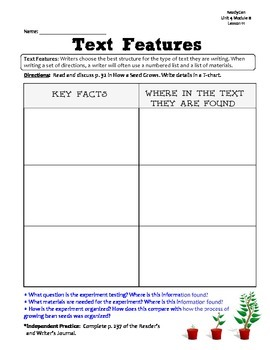 ReadyGen GRAPHIC ORGANIZERS Unit 4 Module B - Grade 1