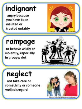 ReadyGen George's Secret to the Universe Vocabulary 5th grade Unit 3 Module A