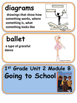 ReadyGen Going to School Vocabulary 1st grade Unit 2 Module B