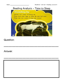 ReadyGen Grade 1 Unit 1 Mod B GRAPHIC ORGANIZERS (Modified for lower level)