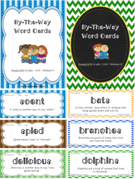ReadyGEN 2016 Grade 1 Unit 1 Module A & B By-The-Way Word Cards