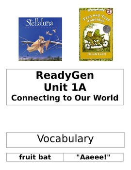 ReadyGen 2014 Grade 1 Unit 1A Concept Board to Differentiate Instruction