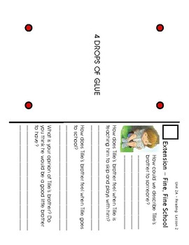 ReadyGen Grade 1 Unit 2 Mod A GRAPHIC ORGANIZERS (with EXTENSIONS)