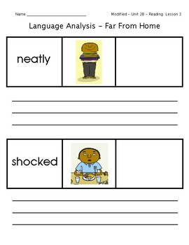 ReadyGen Grade 1 Unit 2 Mod B GRAPHIC ORGANIZERS (Modified for lower level)