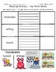 ReadyGen Grade 1 Unit 2 Mod B GRAPHIC ORGANIZERS (with EXTENSIONS)