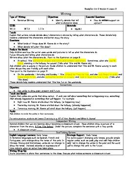 ReadyGen Grade 1 Unit 2 Module A Lesson 2