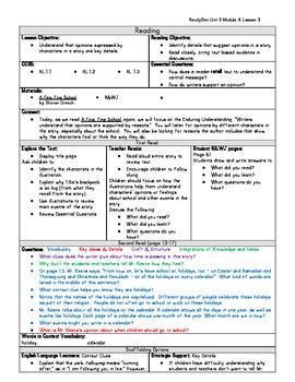 ReadyGen Grade 1 Unit 2 Module A Lesson 3