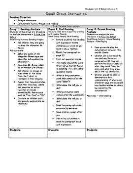 ReadyGen Grade 1 Unit 2 Module A Lesson 4