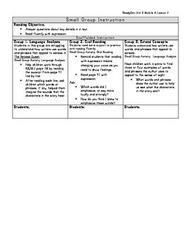 ReadyGen Grade 1 Unit 2 Module A Lesson 7