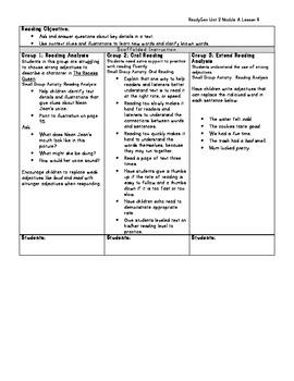 ReadyGen Grade 1 Unit 2 Module A Lesson 9