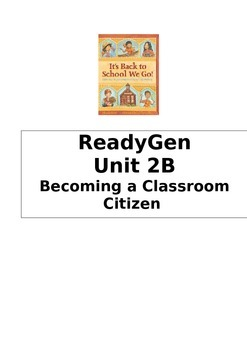 ReadyGen 2014 Grade 1 Unit 2B Concept Board to Differentiate Instruction