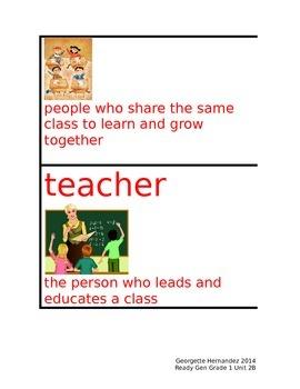 ReadyGen Grade 1 Unit 2B Vocabulary