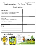 ReadyGen Grade 1 Unit 3 Mod A GRAPHIC ORGANIZERS (with EXT