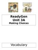 ReadyGen 2014 Grade 1 Unit 3A Concept Board to Differentia
