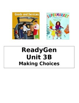 ReadyGen 2014 Grade 1 Unit 3B Concept Board to Differentiate Instruction