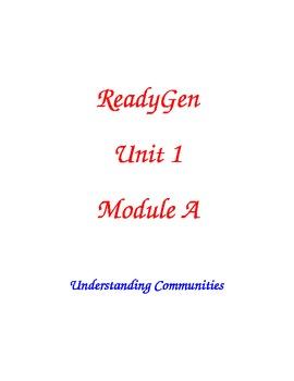 ReadyGen Grade 2 Unit 1A Lesson Plans WORKSHOP MODEL with