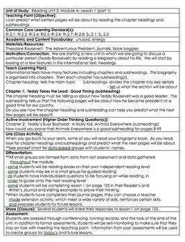 ReadyGen Grade 2 Unit 3A Lesson Plans WORKSHOP MODEL with DIFFERENTIATION