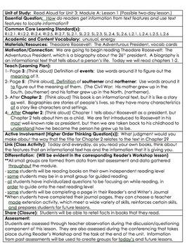 ReadyGen Grade 2 Unit 3A Lesson Plans WORKSHOP MODEL with