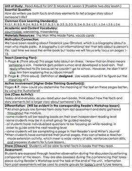 ReadyGen Grade 2 Unit 3B Lesson Plans WORKSHOP MODEL with DIFFERENTIATION