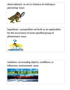 ReadyGen Grade 3 Unit 1 Vocabulary Cards